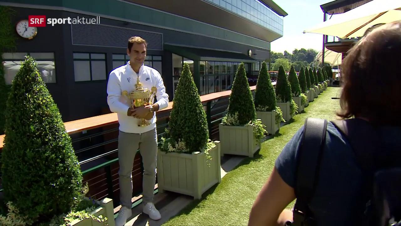 Roger Federer am Tag nach seinem Wimbledon-Sieg