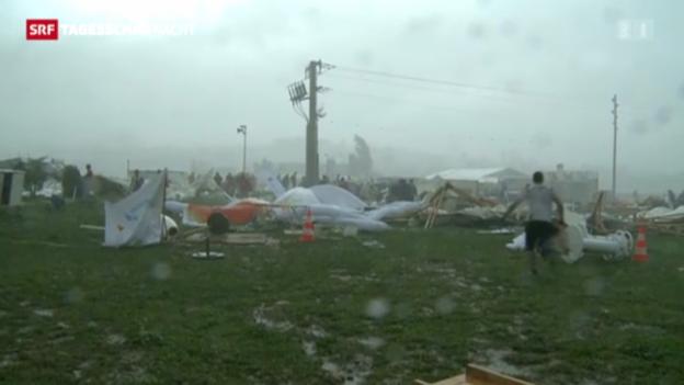 Video «Weiterer Sturm fegt übers Turnfest» abspielen