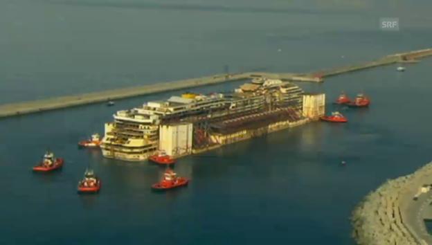 Video «Letzte Reise der Costa Concordia» abspielen