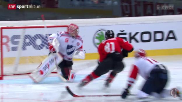 Video «Eishockey: Champions Hockey League, Bern - IFK Helsinki» abspielen