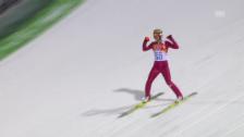 Video «Skispringen: 2. Sprung von Stoch (sotschi direkt, 9.2.14)» abspielen