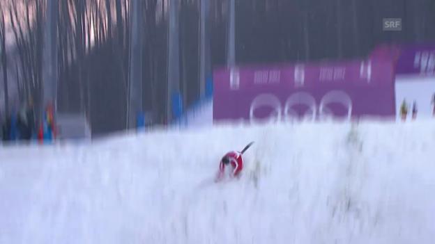 Video «Ski Freestyle: Der Sturz von Christopher Lambert (sotschi direkt, 16.02.2014)» abspielen