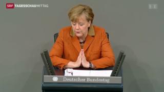 Video «Merkel erklärt politische Stossrichtung» abspielen