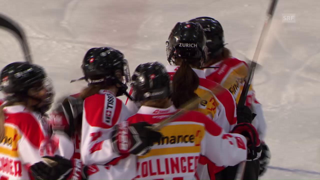 Der Führungstreffer der Schweizerinnen
