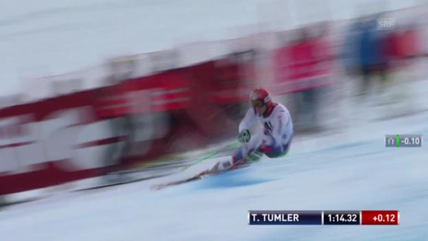 Video «Ski alpin: 2. Lauf von Thomas Tumler («sportlive»)» abspielen