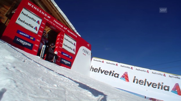 Video «Ski Alpin: Abfahrt Wengen, Fahrt Marc Gisin» abspielen