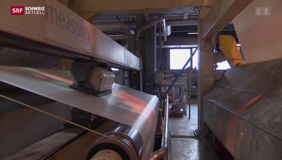 Papierproduktion in Cham eingestellt