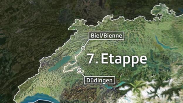 Video «Rad: Tour de Suisse, Streckenprofil 7. Etappe» abspielen