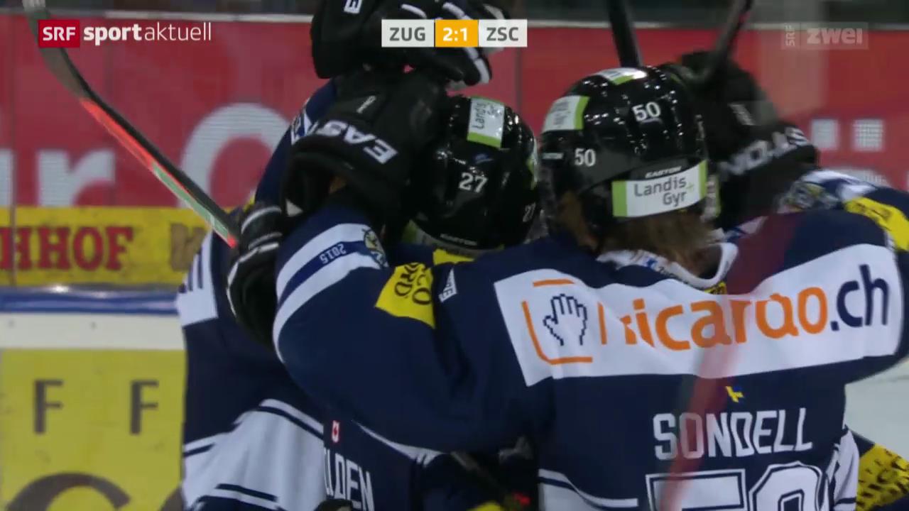 Eishockey: Zug - ZSC Lions