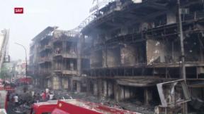 Video «Anschläge in Bagdad – 90 Tote» abspielen