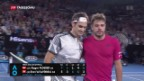 Video «Federer besiegt Wawrinka im Halbfinal der Australian Open» abspielen