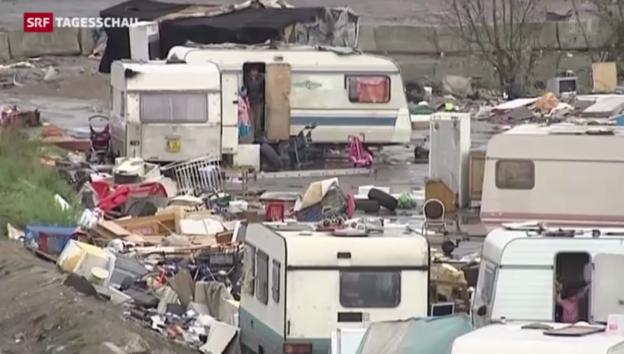 Video «Heftige Kontroverse um Roma in Frankreich» abspielen