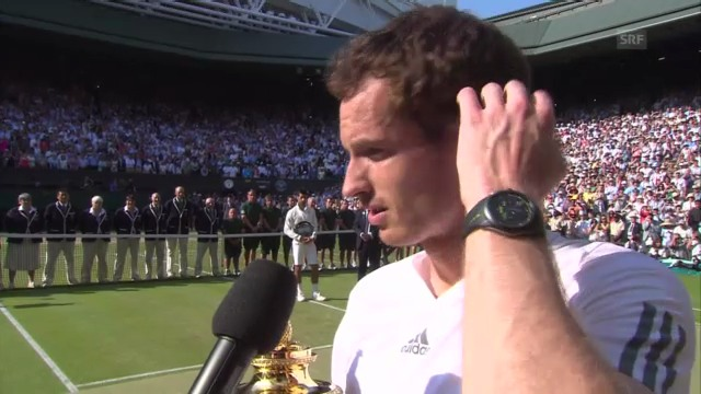 Andy Murray im Platz-Interview