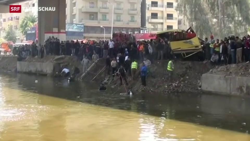 Busunglück in Ägypten fordert 12 Tote