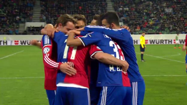 Video «Fussball: Cup, St. Gallen - Basel: Die Live-Highlights (unkommentiert)» abspielen