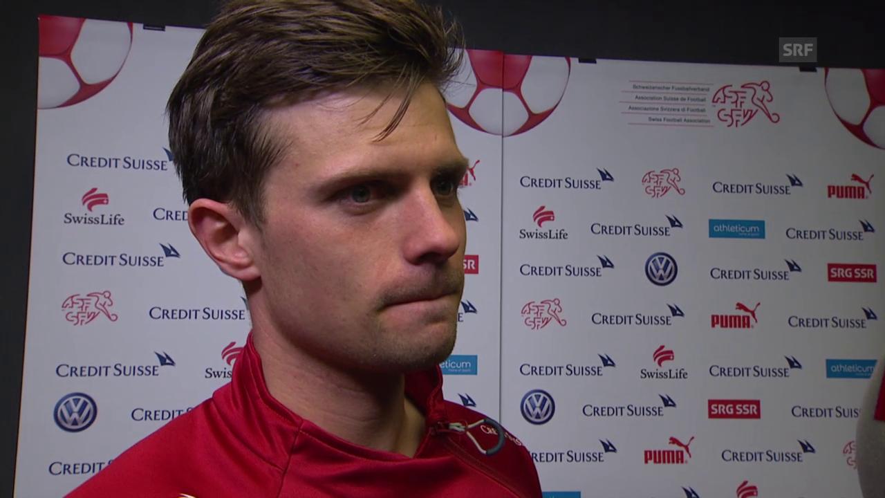 Fussball: Testländerspiel Schweiz-USA, Interview mit Valentin Stocker