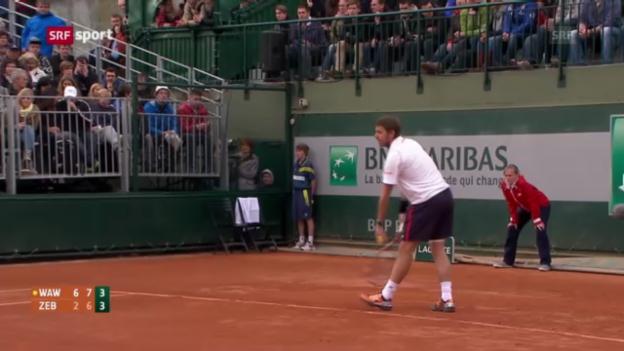 Video «Wawrinka steht in der 3. Runde («sportaktuell»)» abspielen