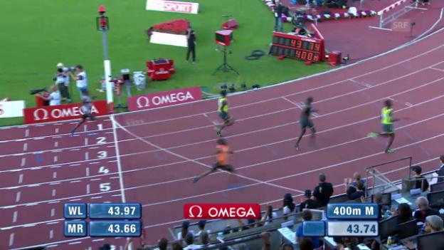 Video «LA: Athletissima, 400 m der Männer» abspielen