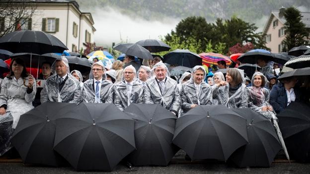 Regen an der Glarner Landsgemeinde