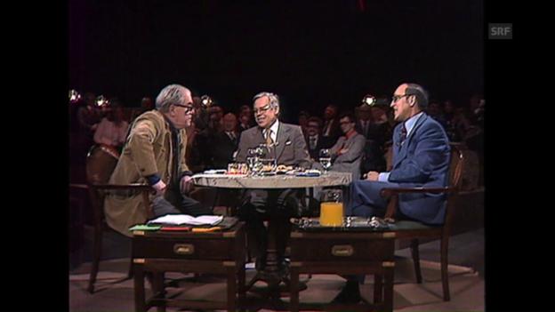 Video «Unter uns gesagt: Max Frisch und Kurt Furgler (3. März 1978)» abspielen