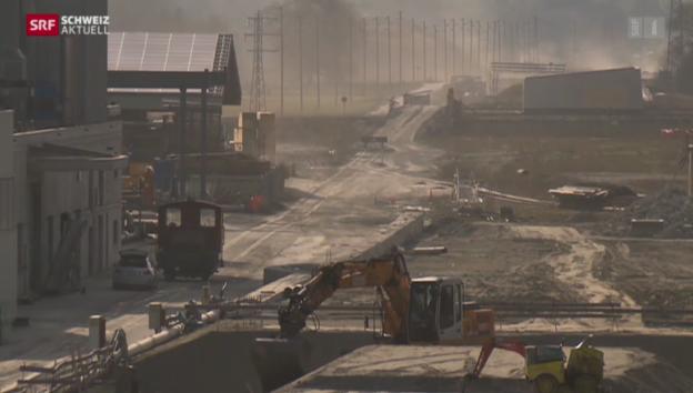 Video «Autobahnbau im Oberwallis in der Kritik» abspielen