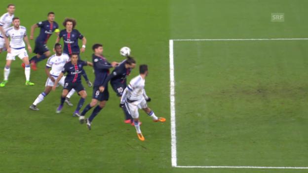 Video «PSG schlägt Chelsea zuhause dank Toren von Ibrahimovic und Cavani» abspielen