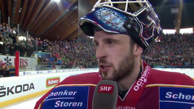 Video «Eishockey: Spengler Cup, Interview mit Janick Schwendener» abspielen