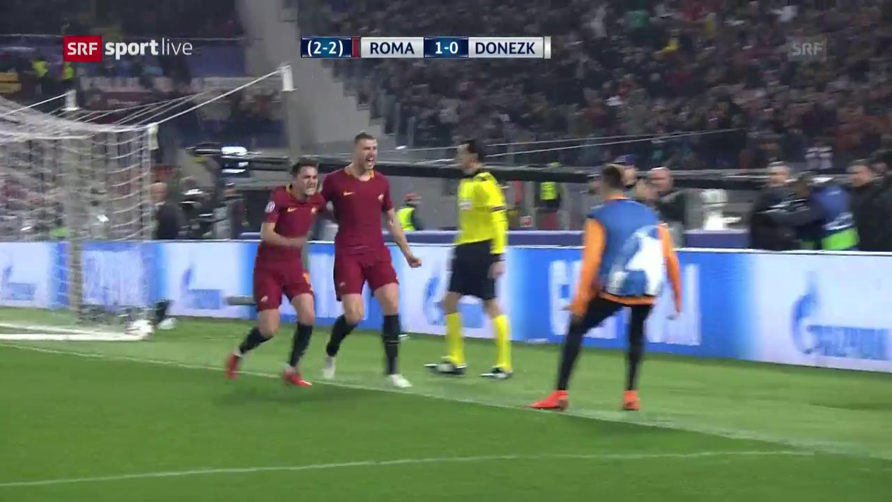 Die AS Roma schlägt Schachtar Donezk mit 1:0