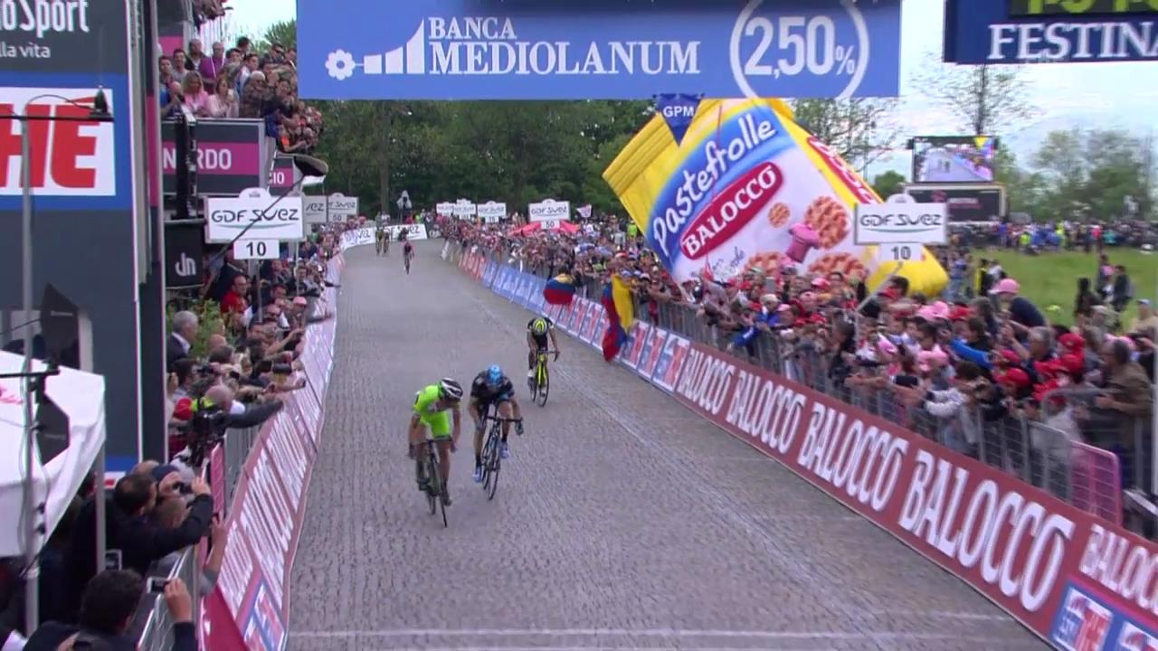 Rad: Zusammenfassung der 14. Giro-Etappe