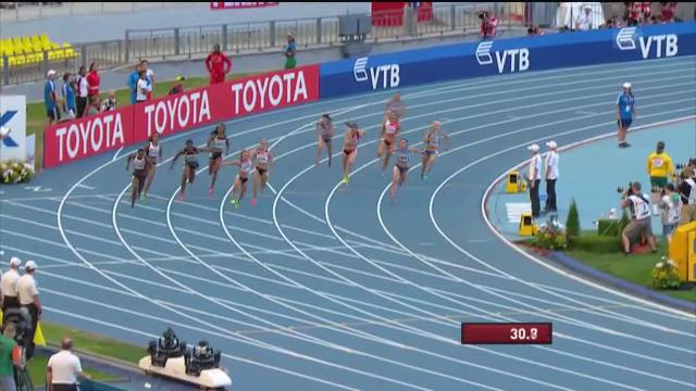 LA-WM: 4x100-m-Vorlauf der Schweizerinnen