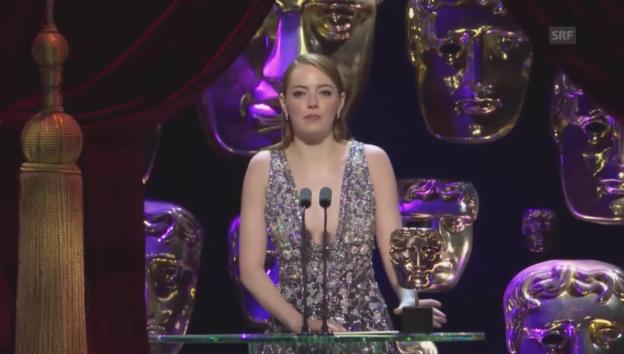 Video «Emma Stone gewinnt einen Bafta» abspielen