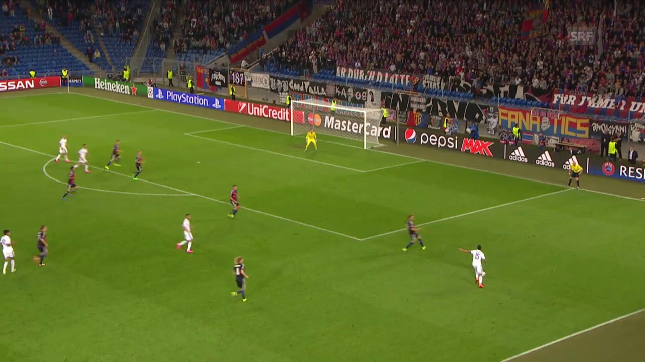 Fussball: CL-Playoff, Basel-Maccabi, Tor zum 2:2