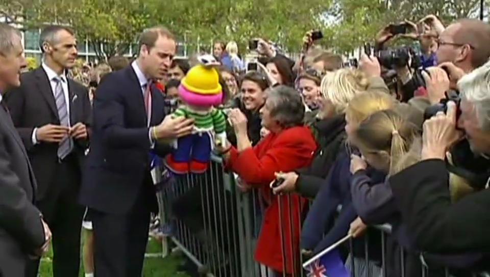 Kate und William mit ihren Fans
