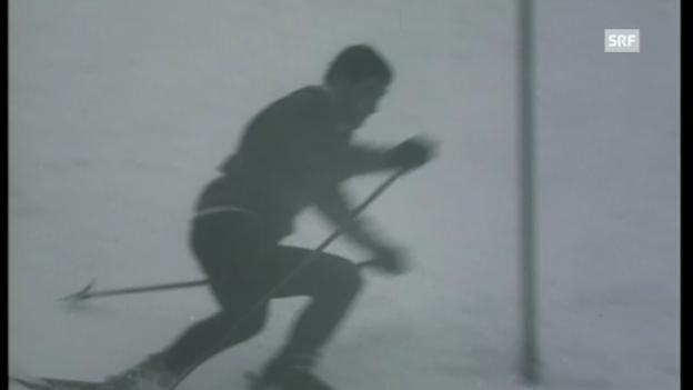 Video «1968: Slalom-Sieg für Dumeng Giovanoli» abspielen