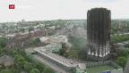 Video «Bisher 17 Tote bei Londoner Brandkatastrophe» abspielen