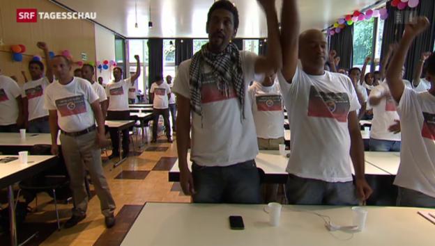 Video «Eritreer wollen politische Veränderung in der Heimat» abspielen
