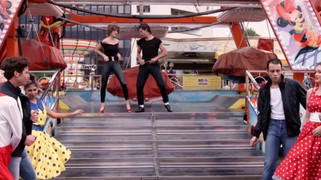 Video «Rad: Peter Sagans «Grease»-Performance» abspielen