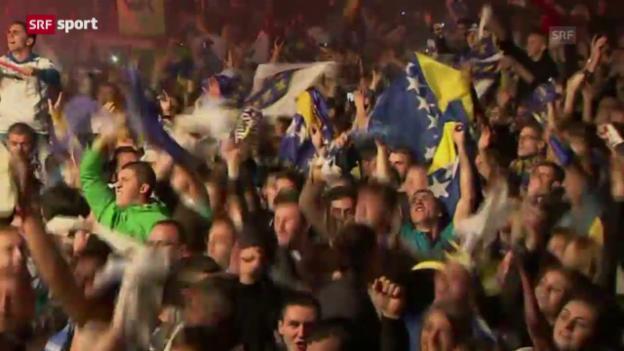 Video «Bosnien nach WM-Quali im Freudentaumel («sportaktuell»)» abspielen
