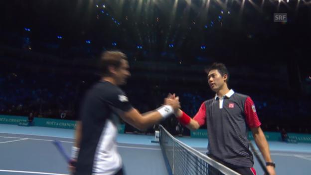 Video «Tennis: Highlights Nishikori-Ferrer» abspielen