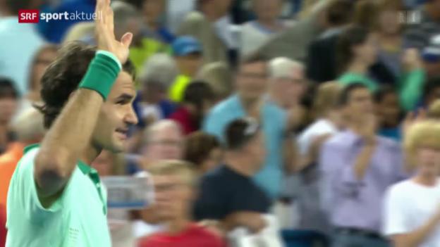 Video «Tennis: Federer am ATP-Turnier in Cincinnati» abspielen