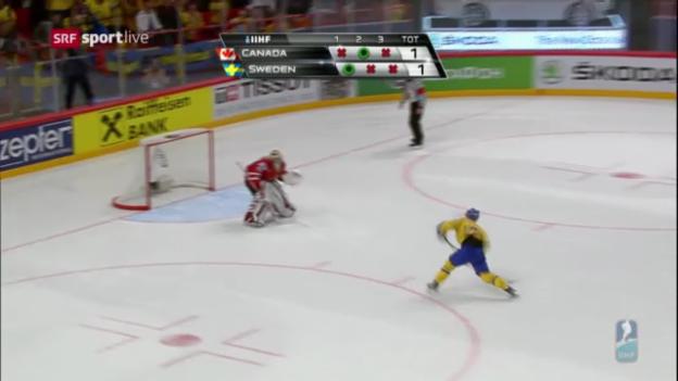 Video «Die Tore bei Kanada - Schweden («sportlive»)» abspielen