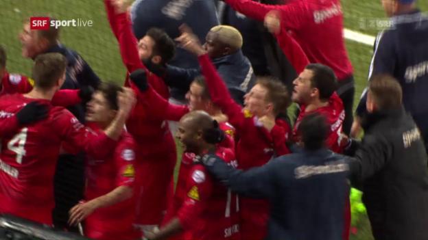 Video «Winterthur wirft YB aus dem Cup» abspielen
