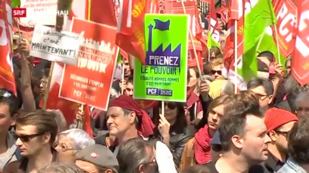 Video «Mélenchon gegen Hollande» abspielen