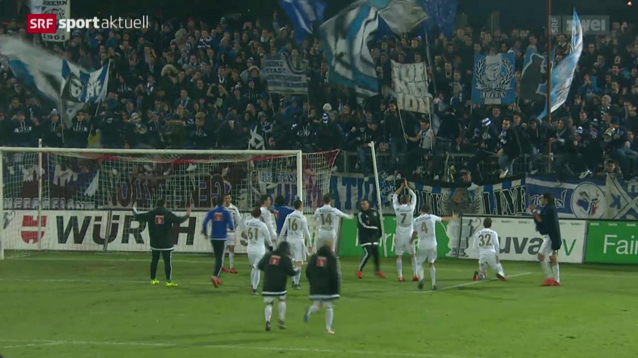 Fussball: Schweizer Cup, Viertelfinal, Aarau - Luzern