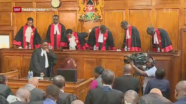 Video «Wahlen in Kenia für ungültig erklärt» abspielen