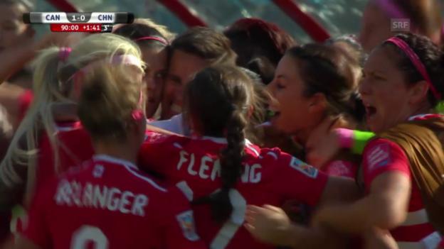Video «Fussball: Frauen-WM Kanada, Kanada - China, Tor Sinclair» abspielen