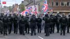 Video «Flaggenstreit in Nordirland» abspielen