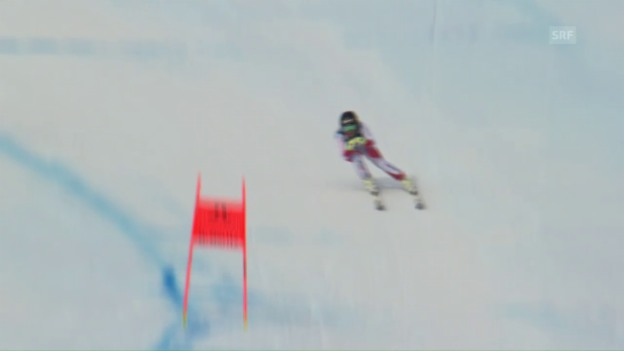 Video «Lara Gut zeigt eine starke Trainingsfahrt» abspielen