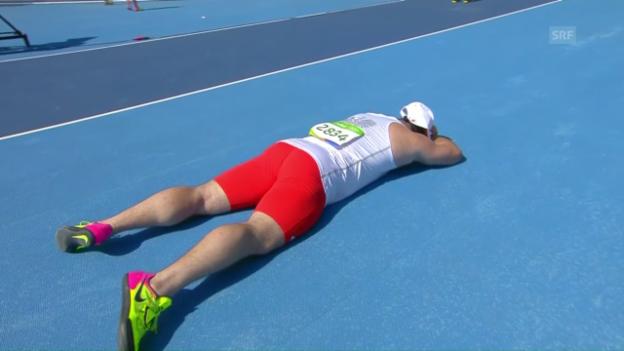 Video «Hammerwurf-Topstar Fajdek scheitert in der Qualifikation» abspielen