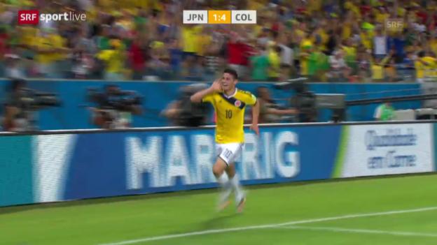 Video «Fussball: Spielbericht Japan - Kolumbien» abspielen